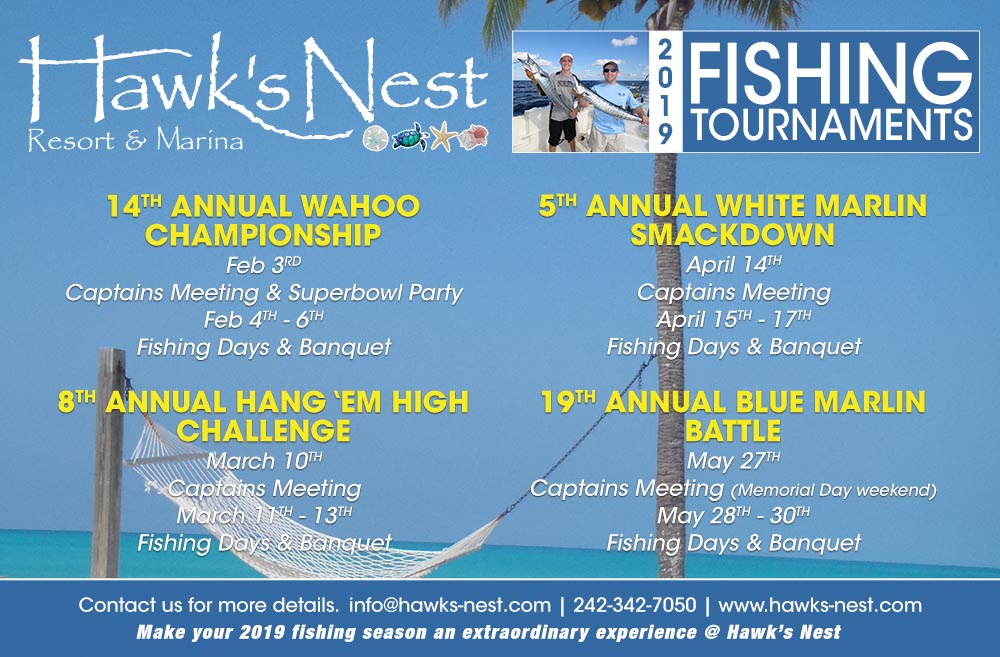 2019 Fishing Tournaments | Hawks Nest | Bahamas