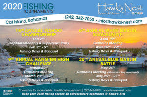 2020 Hawk's Nest Fishing Tournament Schedule