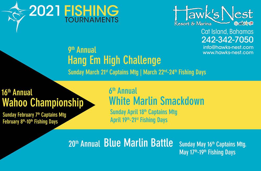 2021 Hawk's Nest Fishing Tournament Schedule