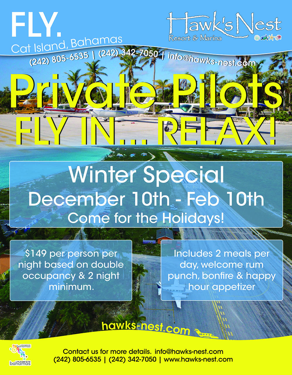 Private Pilots FLY IN... RELAX!